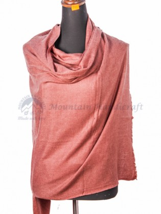 Shady Pink Cashmere Color Shawl (MHCS06)