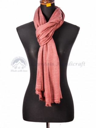 Shady Pink Cashmere Color Shawl (MHCS05)