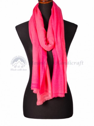 Hot Pink Double Shed Color Shawl (MHDC03)