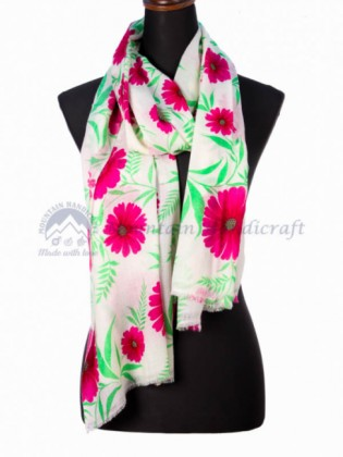 Flowing Floral Ring Shawl (MHRPS03)