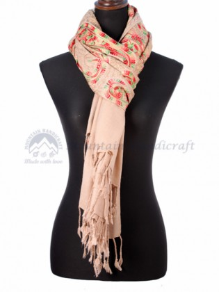 Skin Colored Ring Designed Shawl (MHRDS08)