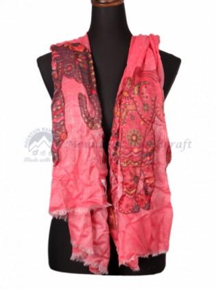 Pink Crimson Ring Designed Shawl (MHRDS07)