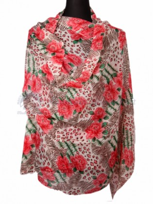 Floral Designed Ring Shawl (MHRDS12)