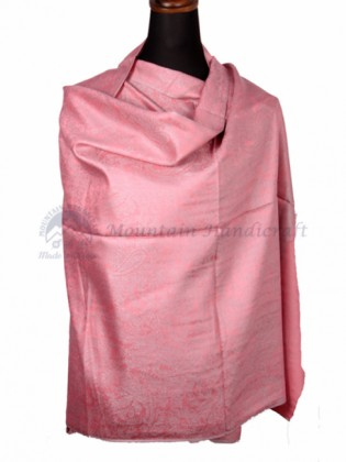 Baby Pink Colored Ring Designed Shawl (MHRDS09)