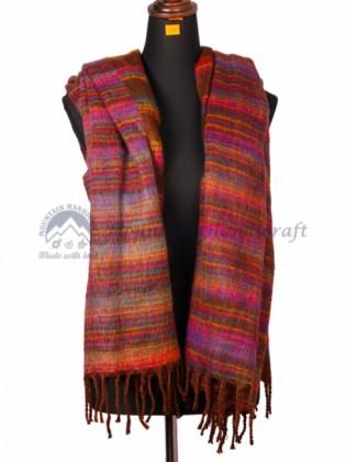 Yak Wool Blanket Brown Color (MHYB06)