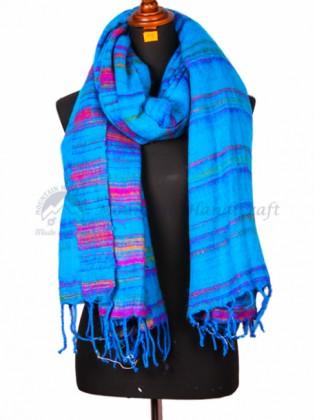 Azure Blue Yak Wool Blanket (MHYB09)