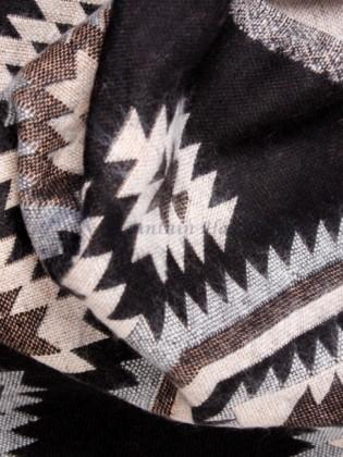 Black and White Yak Wool Blanket (MHDB02)