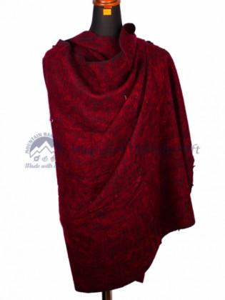 Crimson Yak Wool Blanket (MHNYB02)