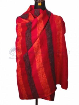 Maroon Red Yak Wool Blanket (MHYB03)