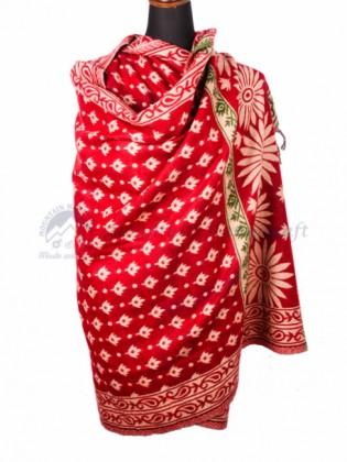 Red Yak Wool Dhaka Blanket (MHDB05)