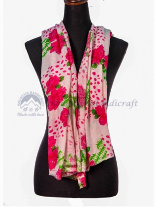 Floral Pattern Ring Shawl (MHRPS04)