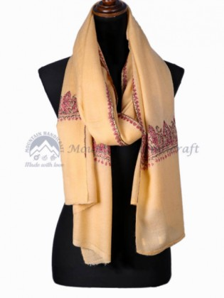 Mustard Embroidered Shawl (MHES05)