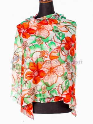Multicolor Floral Ring Shawl(MHRPS02)