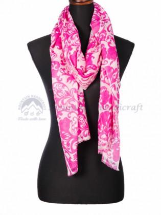 Fine Pink Printed Shawl (MHPS02)