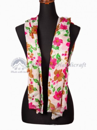 Exclusive Multicolor Floral Ring Printed Shawl (MHRPS15)