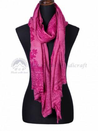 Hot Pink Kaju Pashmina Shawl (MHKCS01)
