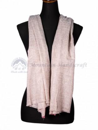 White Wool Border Shawl (MHBS03)