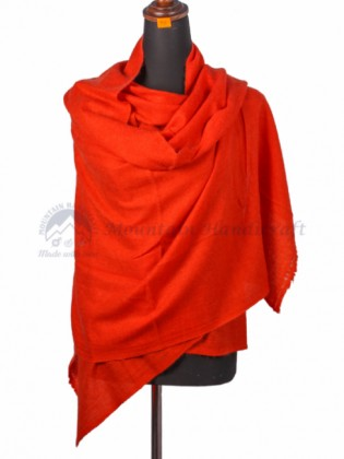 Red Cashmere Color Shawl (MHCS03)
